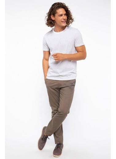 DeFacto Desenli Slim Fit T-shirt Beyaz